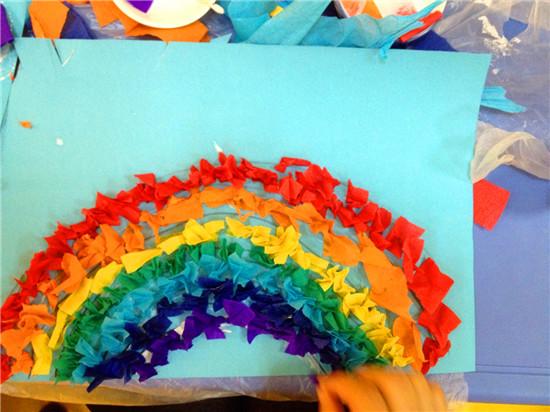 粘贴画-彩虹
