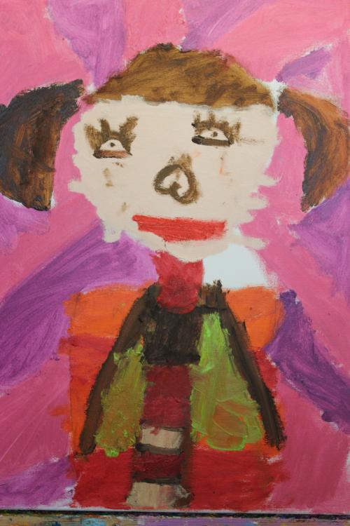 可爱的小女孩 _ 红黄蓝|早教|早教中心