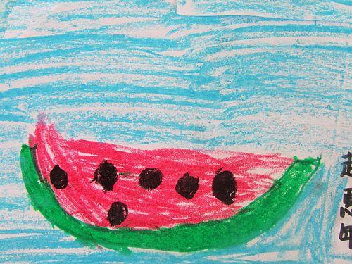 创意儿童画西瓜乐园