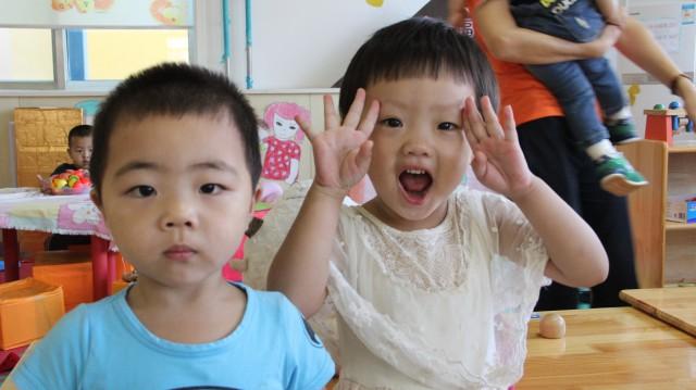 幼儿园开心的一天