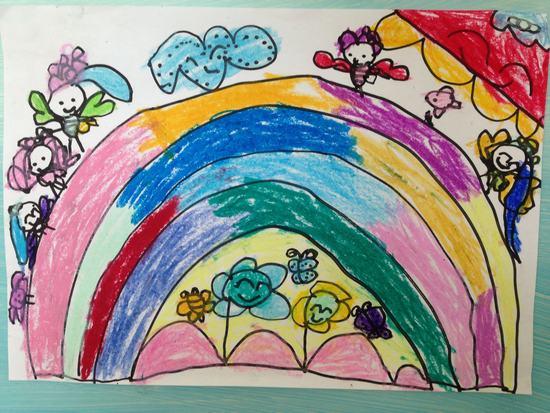 画画彩虹儿童画