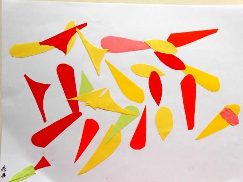 彩纸贴画 黄2班.7