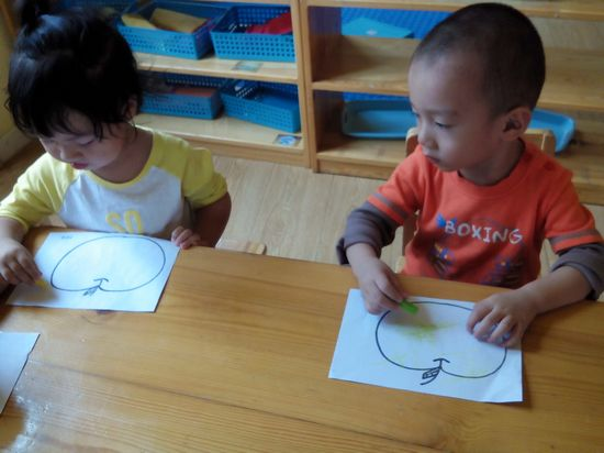 苹果穿衣服 _ 红黄蓝|早教|早教中心