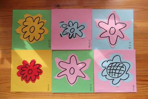 剪纸—小花 _ 红黄蓝|早教|早教中心