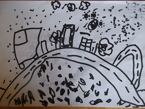 烧水简笔画-创意画