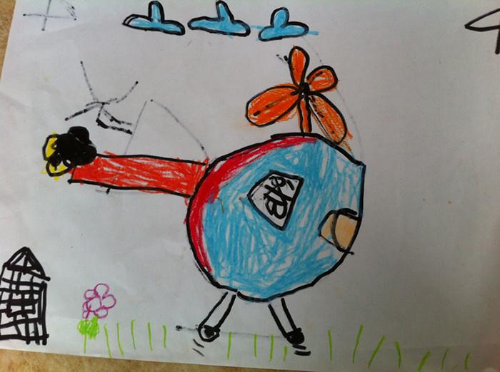 儿童画画大全飞机