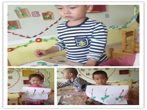 手指点画画小花 _ 红黄蓝|早教|早教中心