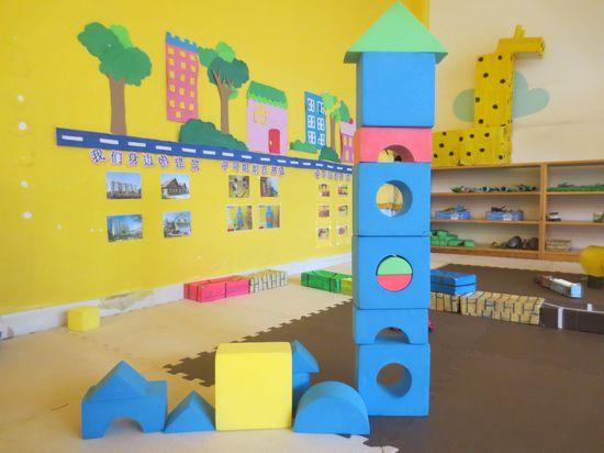 建构区作品 _ 红黄蓝|早教|早教中心