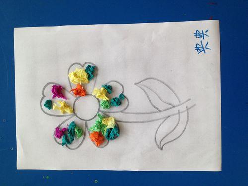 儿童画画皱纹纸手工制作大全