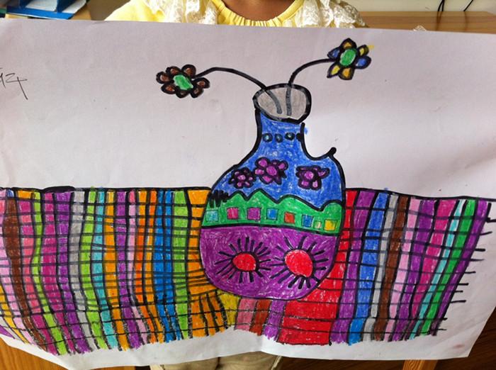 幼儿园泡泡泥手工制作花瓶图片