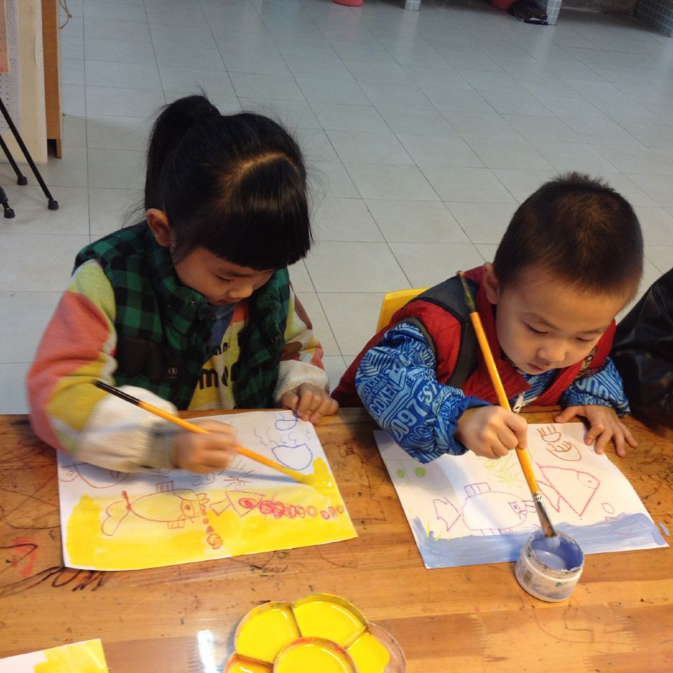油水分离画 _ 红黄蓝|早教|早教中心