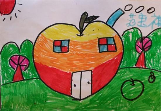 儿童手绘苹果图片