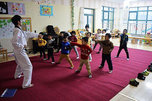 跆拳道展示课