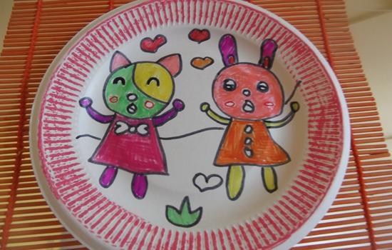 幼儿手绘盘子图片