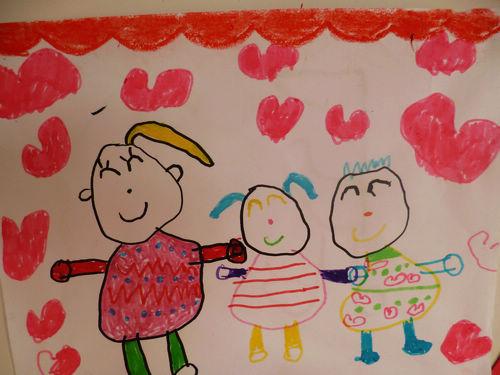 绘画《快乐一家人》 _图片