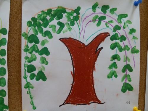 春天的柳树 黄一班 10图片
