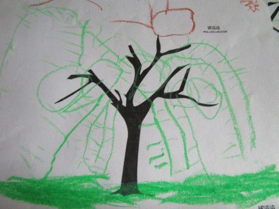 柳树醒了儿童画