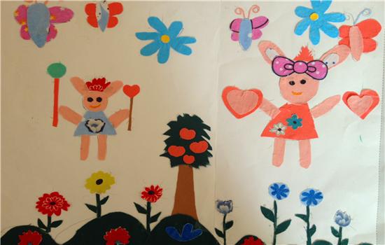 儿童画画小兔可爱一点