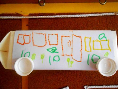 梁瀚宇小朋友制作的牛奶盒汽车