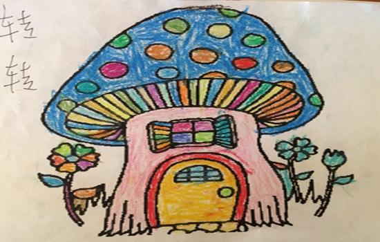 初中生获1等奖风景蘑菇儿童画