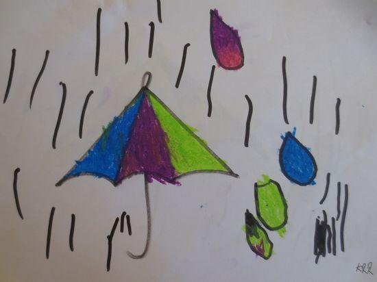 各种各样的伞儿童画