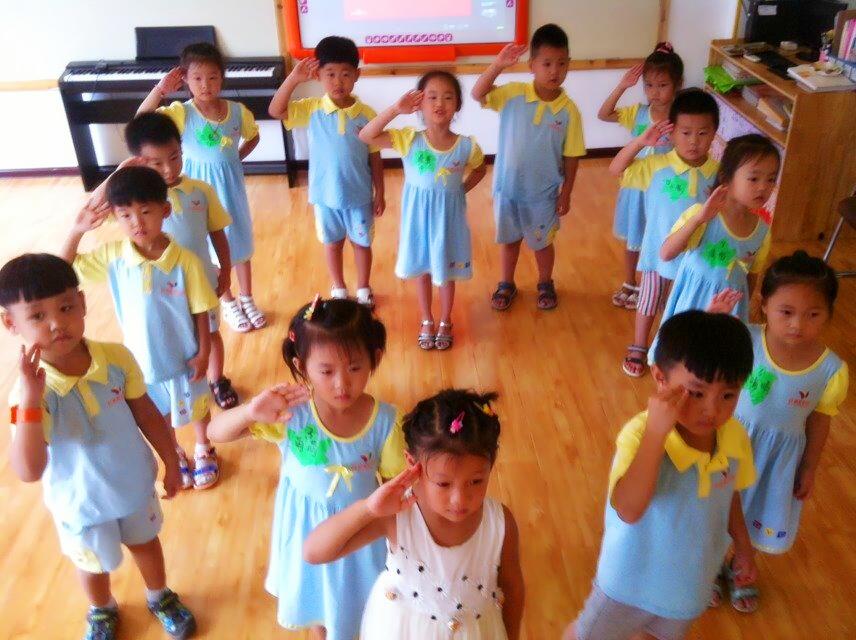 献给最可爱的人——临西红黄蓝幼儿园八一建军节活动