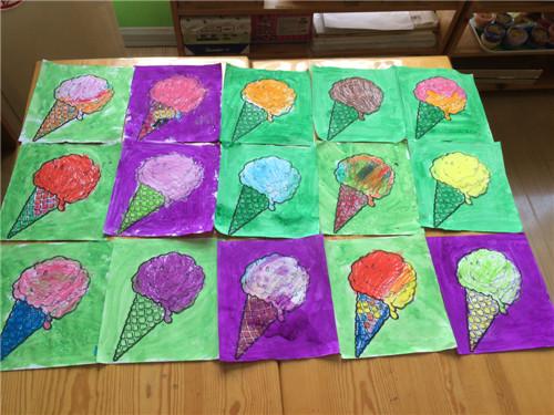 紫都幼儿园我的新学期之油水分离画