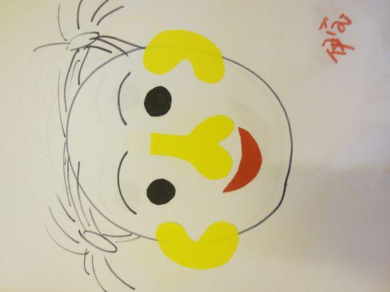 五官幼儿园卡通
