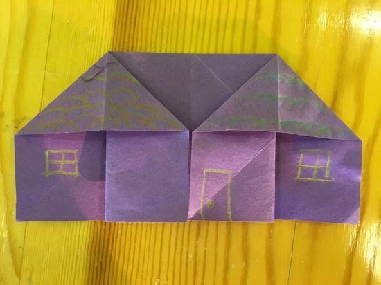 折纸小房子 _ 红黄蓝|早教|早教中心