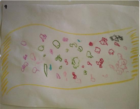 围巾装饰花纹 幼儿园
